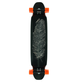 """OMEN Omen Boards Feather White / Black Longboard Complete Skateboard - 9.5"""" x 46"""""""