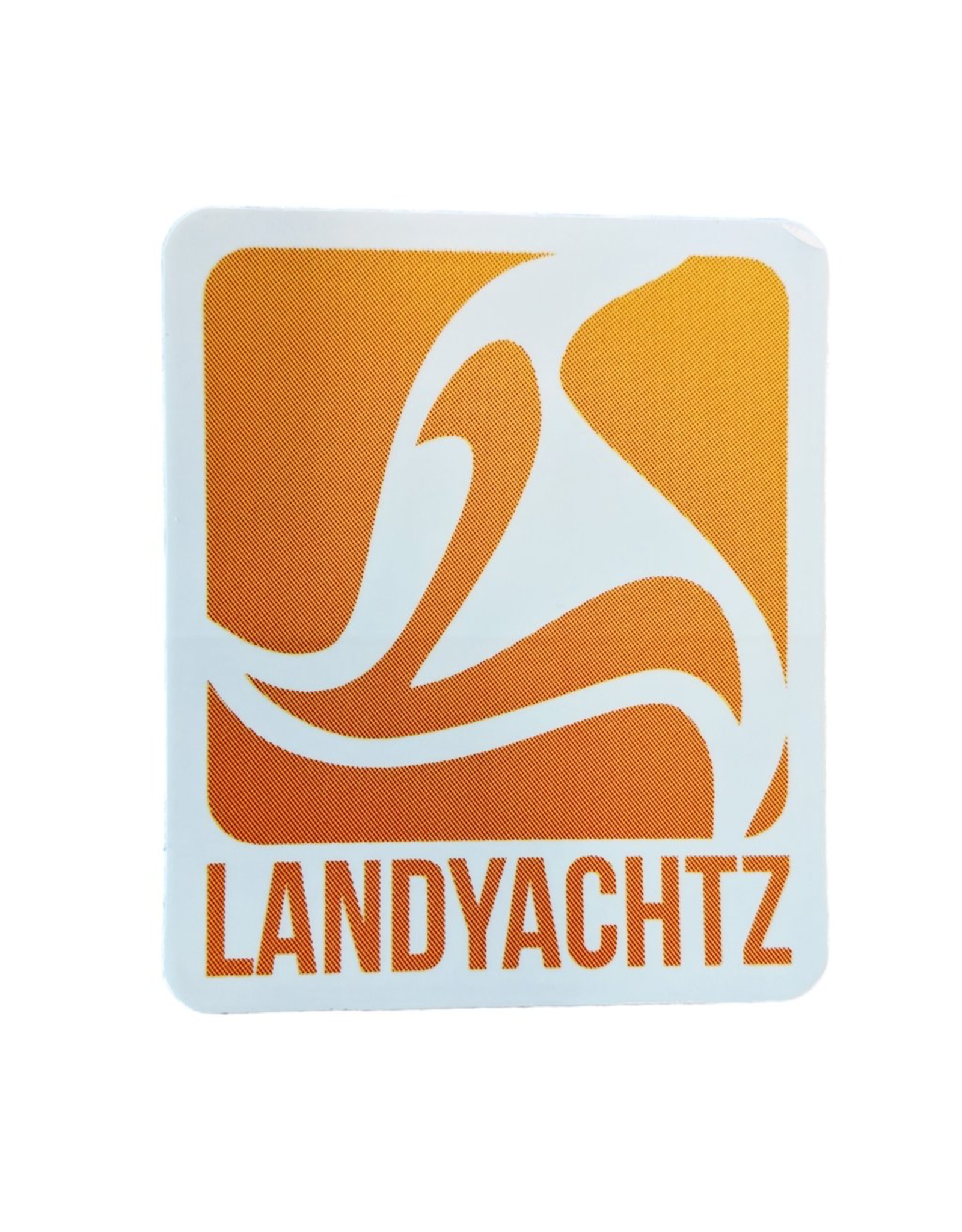 LANDYACHTZ ORANGE LOGO STICKER