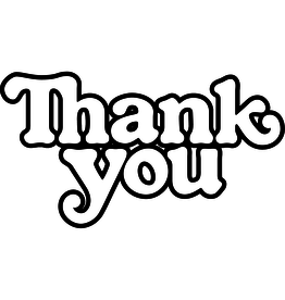THANK YOU LOGO DECAL