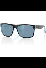 CARVE SUNGLASSES Carve Crimson Sunglasses, Matte Black/Blue Cyan/Polarized
