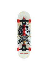 """POWELL Powell Peralta Skull & Sword Natural / White / Red Mid Complete Skateboards - 7.5"""" x 31.375"""""""