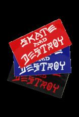THRASHER SKATE & DESTROY DECAL