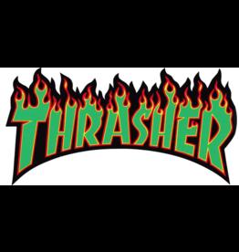 THRASHER THRASHER LOGO STICKER IN GREEN