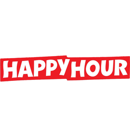 HAPPY HOUR Happy Hour Skateboards Bar Logo Large Skate Sticker