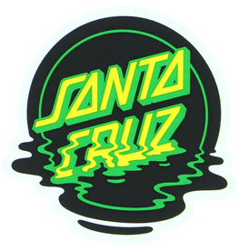 "SANTA CRUZ Santa Cruz Skateboards 3"" x 3"" Dot Reflection Mylar Skate Sticker"
