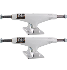 "THUNDER Thunder Trucks 148mm Titanium Lights Pearl White / Polished Skateboard Trucks - 5.5"" Hanger 8.25"" Axle (Set of 2)"