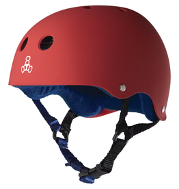 "Triple 8 Sweatsaver Helmet with Sweatsaver Liner United Red Rubber Skate Helmet - S/M 21.7"" - 22.8"""