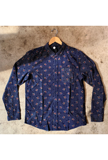 RVCA POST WAVE CORD LONG SLEEVE BUTTON UP