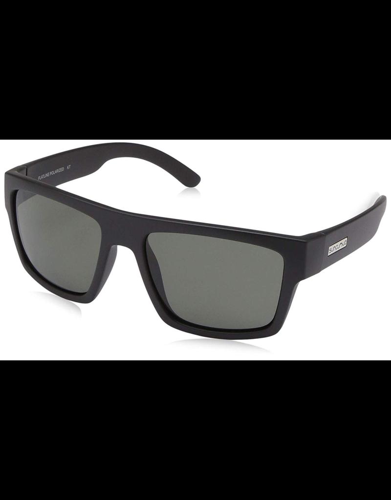 SUNCLOUD nisex Matte Black Frame Grey Polarized Lens Square Sunglasses