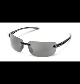 SUNCLOUD Suncloud Optics Highride Sunglasses Black With Polar Grey Lens
