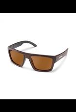 SUNCLOUD Mens Burnished Brown Frame Brown Polarized Lens Rectangular Sunglasses