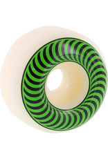 SPITFIRE Spitfire Wheels Classics White / Green Skateboard Wheels - 52mm 99a (Set of 4)