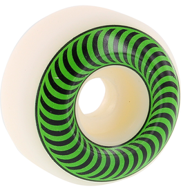 SPITFIRE Spitfire Wheels Classics White / Green Skateboard Wheels - 52mm 99a (Set of 4)