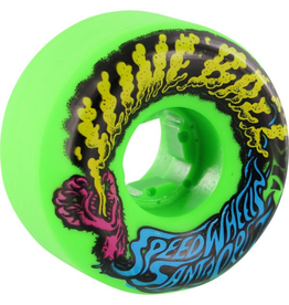 SANTA CRUZ SANTA CRUZ SLIMEBALLS VOMITS MINI 56mm 97a NEON GREEN WHEELS SET