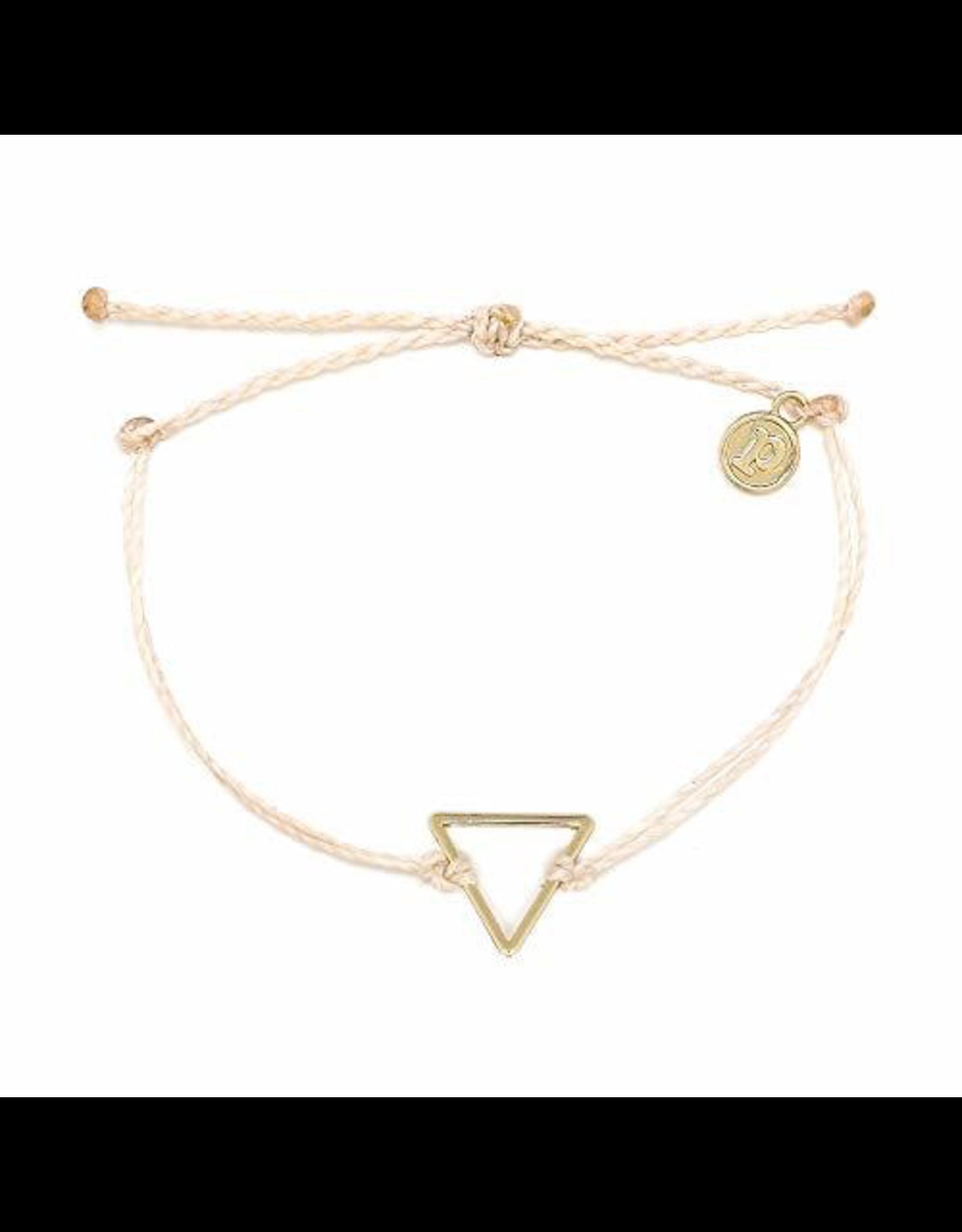 PURA VIDA Triangle Charm Braided Bracelet