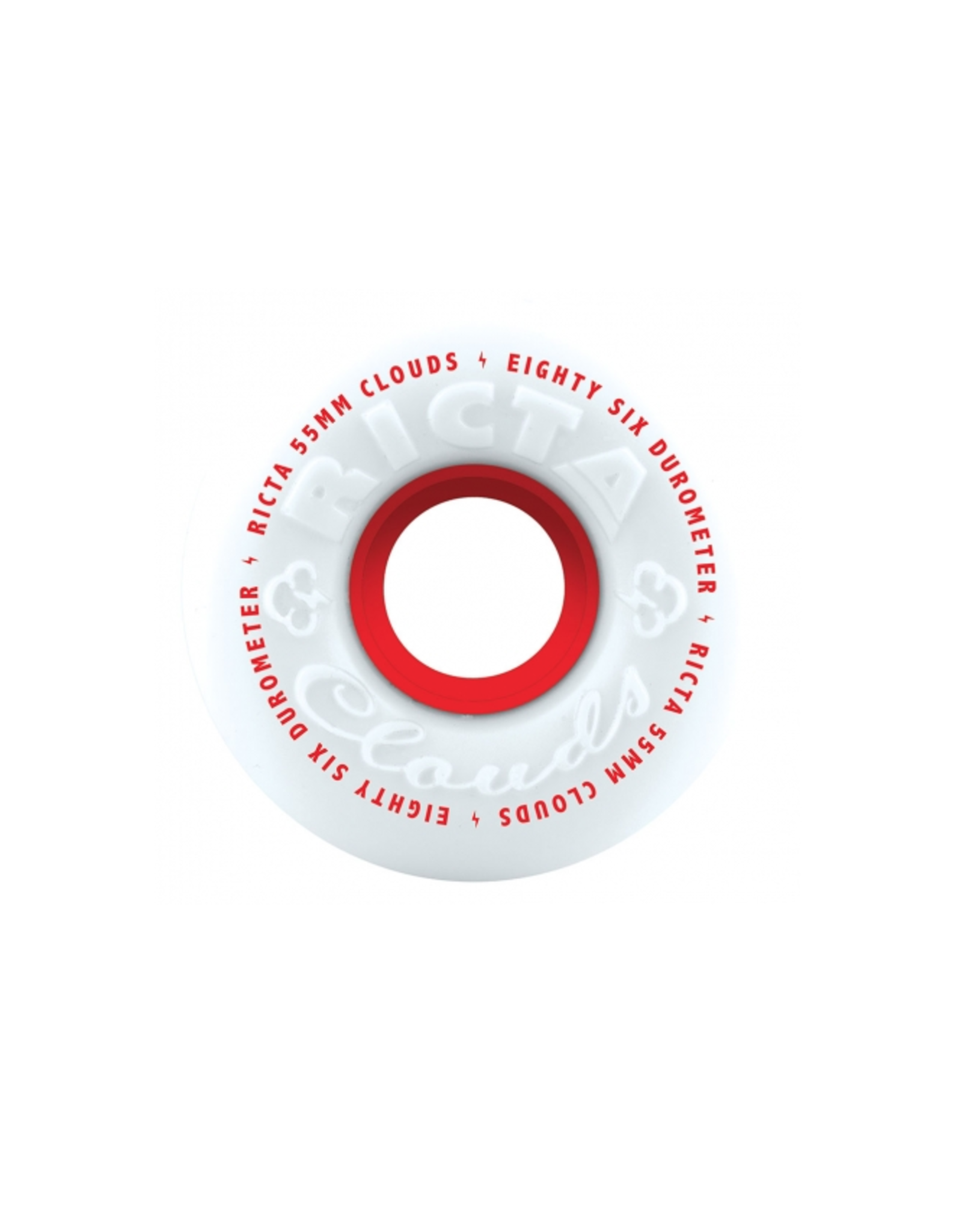RICTA 55mm Clouds Red 86a Ricta Skateboard Wheels
