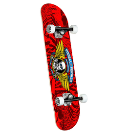 POWELL Powell Peralta Winged Ripper Red Complete Skateboard - 7 x 28