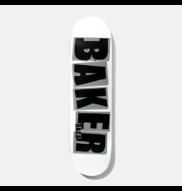 BAKER BAKER BACA BRAND NAME DECK 8.0 WHT/GREY