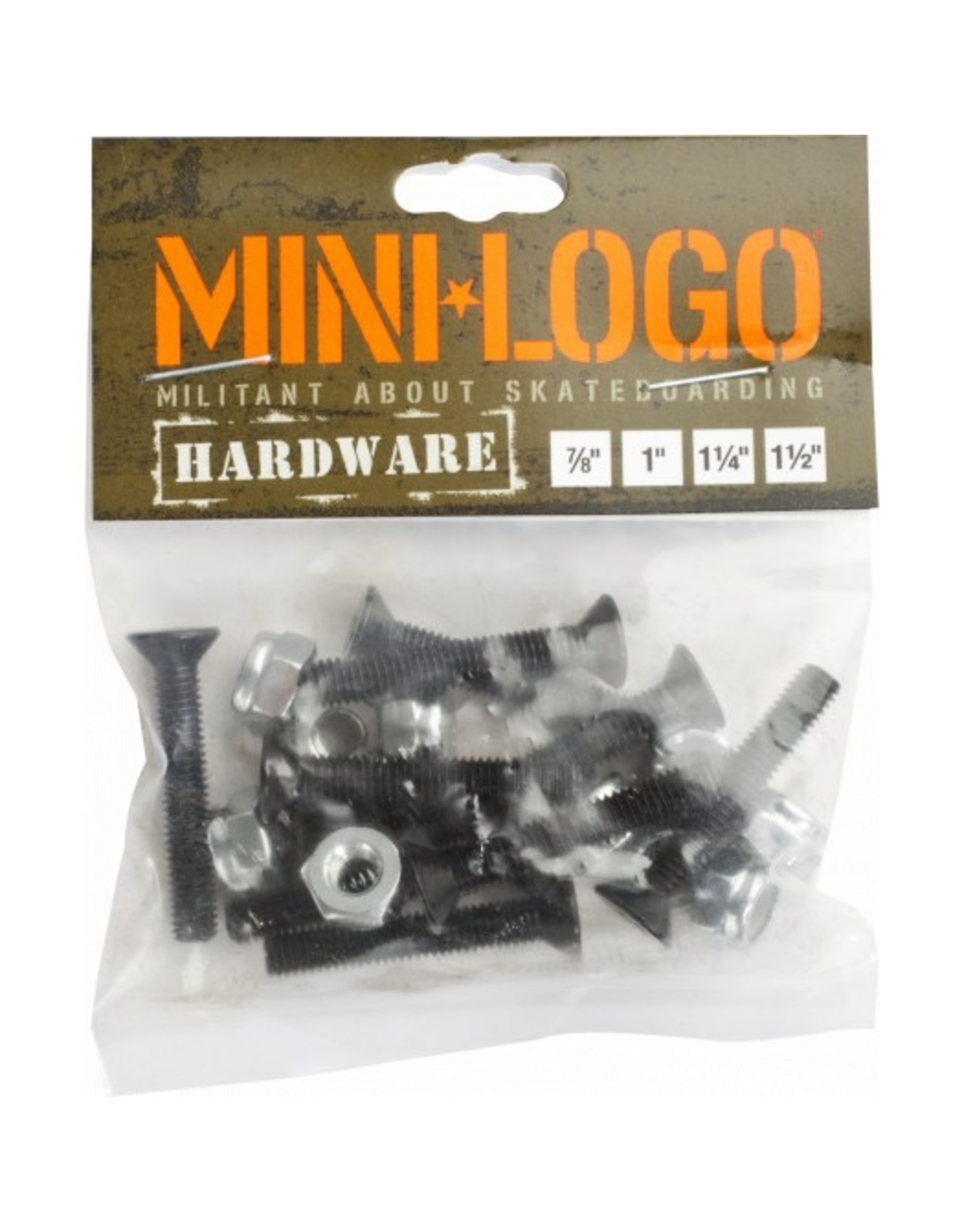 "MINI LOGO ML HARDWARE 1-1/4"" PHILIPS BLACK"
