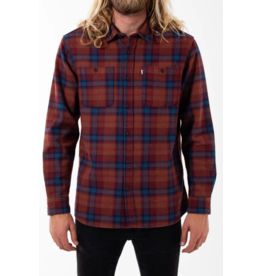 KATIN HAROLD FLANNEL SHIRT-DARK RED