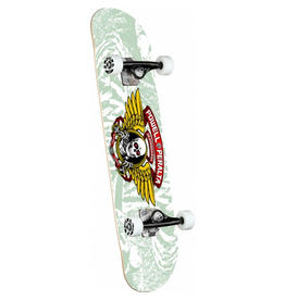 POWELL Powell Peralta Mini Winged Ripper White Complete Skateboard - 8 x 31.45
