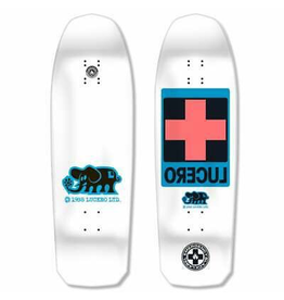 "BLACK LABEL Black Label Skateboards John Lucero Cross White Dip Skateboard Deck - 10"" x 32.88"""