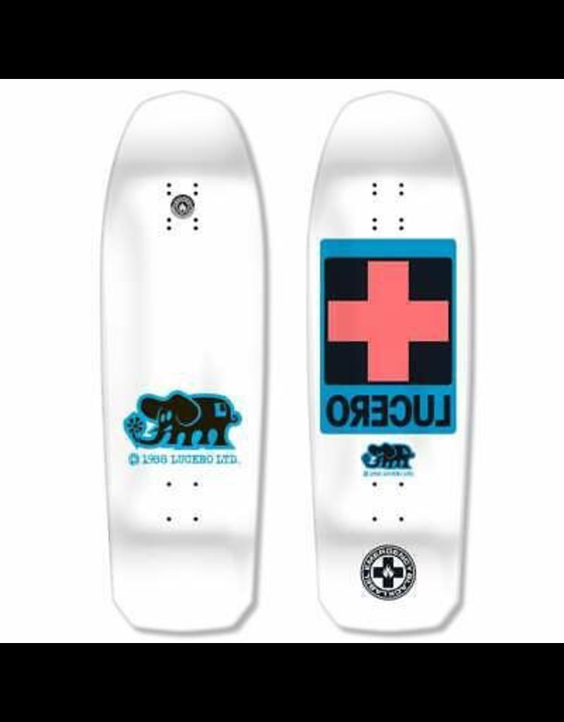 "BLACK LABEL Black Label Skateboards John Lucero Cross White Dip Skateboard Deck - 10"" x 32.88"""