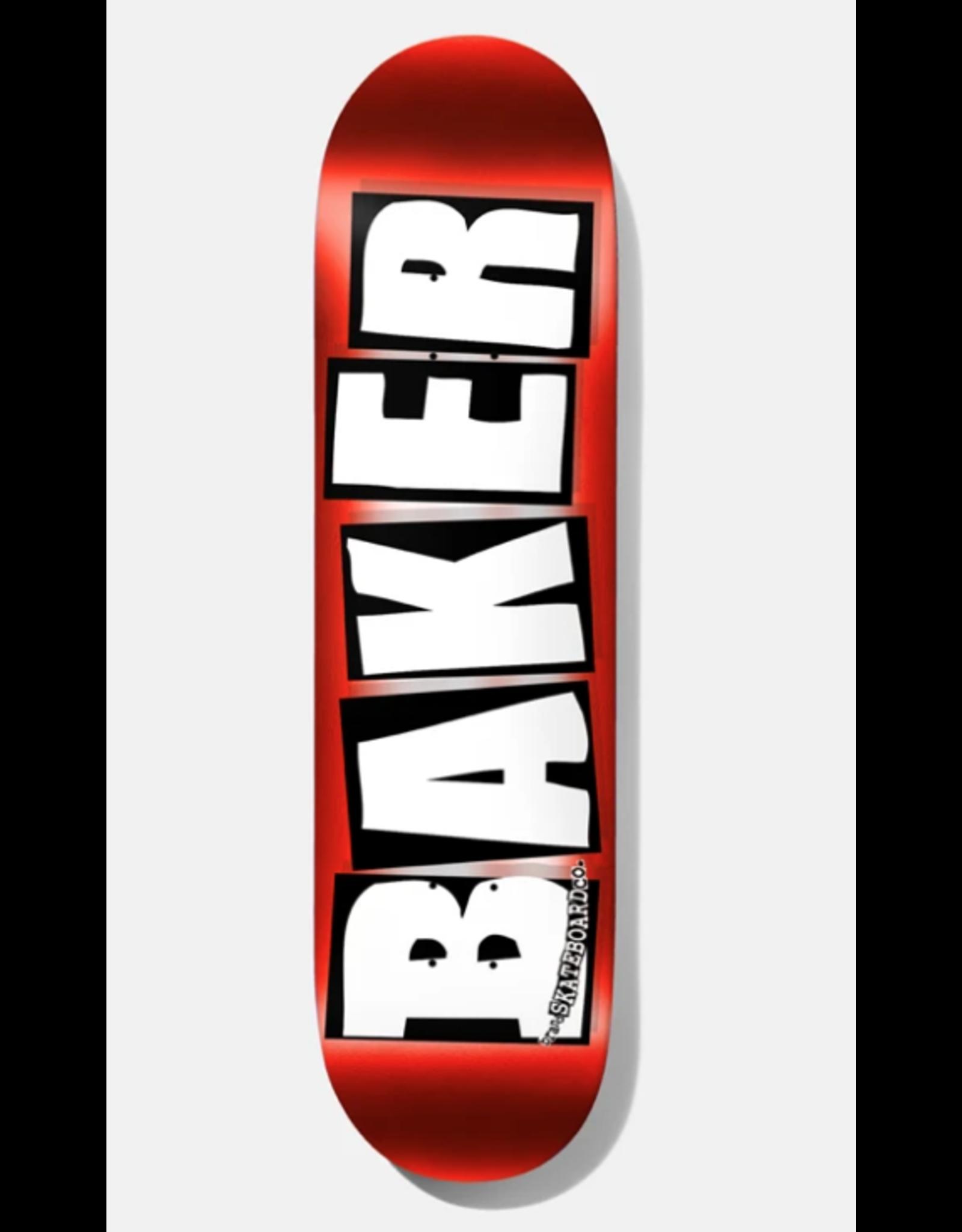 BAKER BAKER BRAND LOGO FOIL DECK 8.25 RED