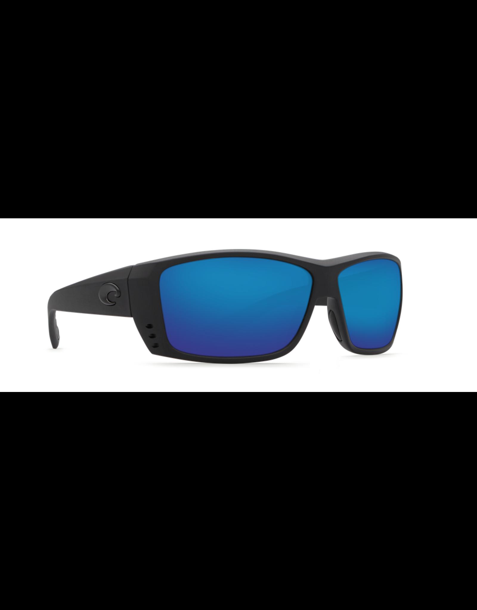 COSTA DEL MAR CAT CAY 01 BLACKOUT W/ GRAY BLUE MIRROR 580P