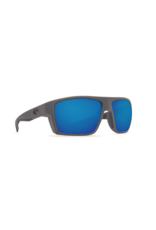COSTA DEL MAR BLOKE 124 MATTE BLACK MATTE GR W/ BLUE MIRROR 580G