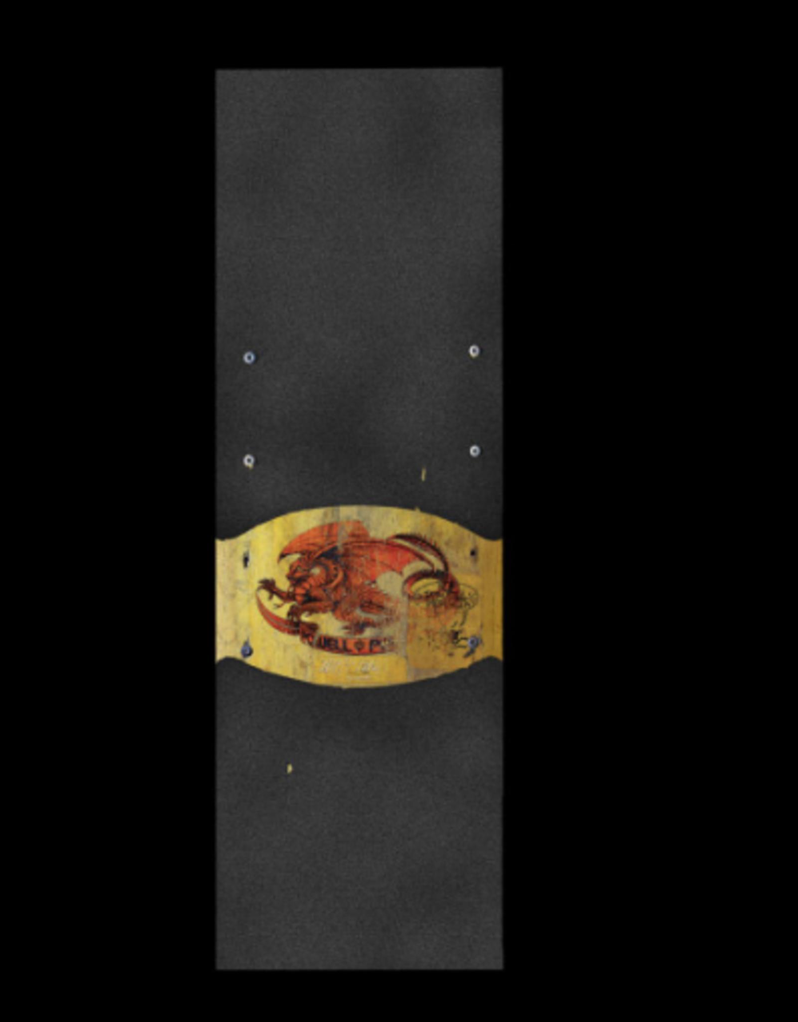 POWELL POWELL PERALTA GRIP SHEET 10.5X33 OVAL DRAGON II BLACK/GOLD