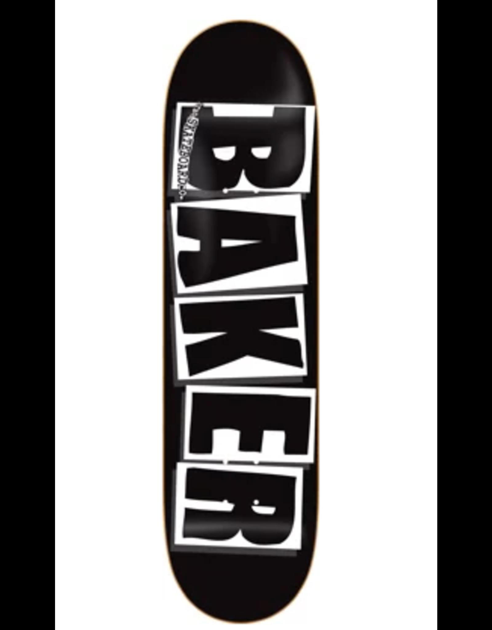 BAKER BAKER BRAND LOGO DECK-8.47 BLK/WHT