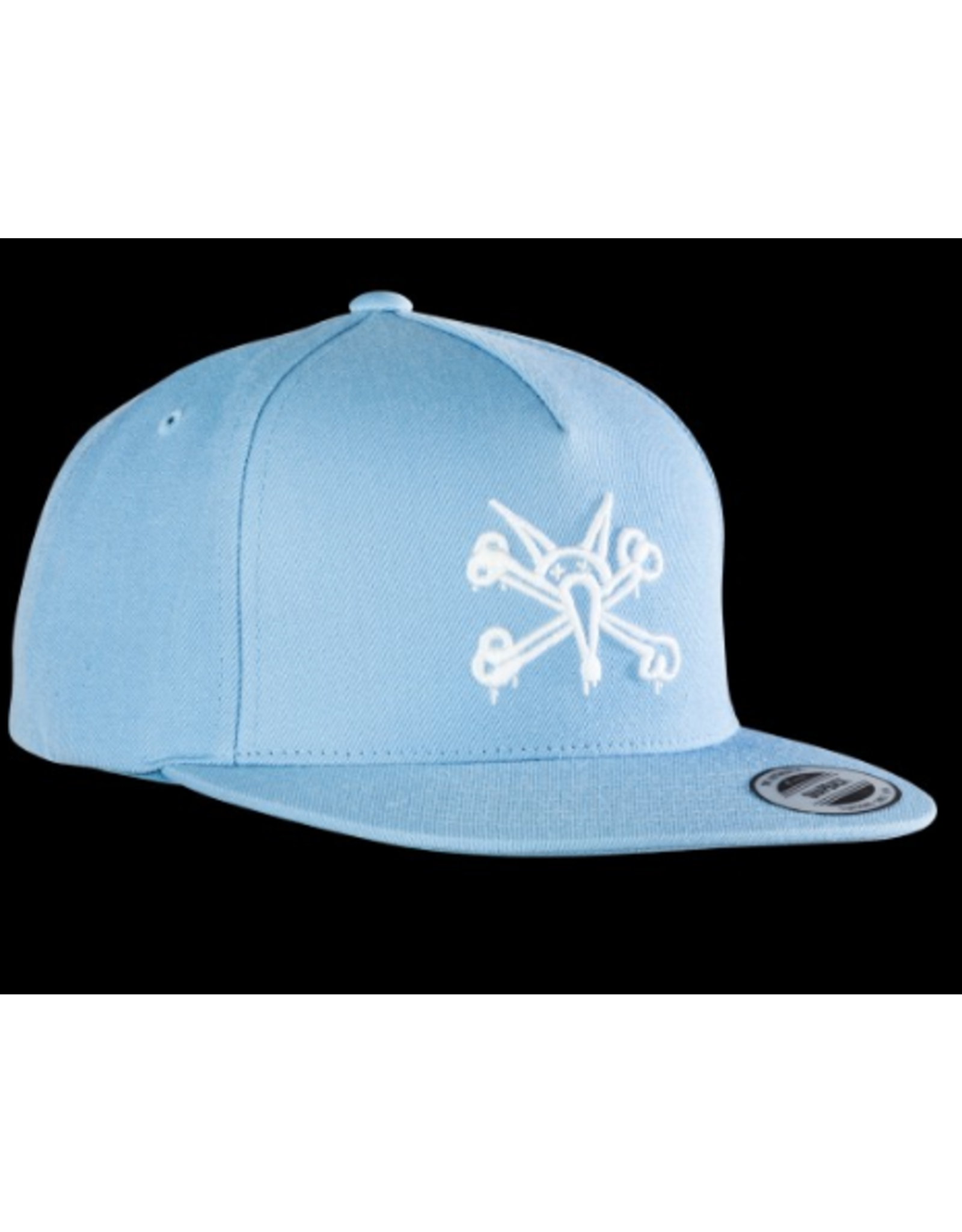 POWELL SNAPBACK PP VATO RAT '3' POWDER BLUE HAT