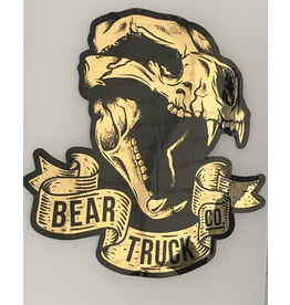 BEAR BEAR TRUCK SKULL STICKER, GOLD