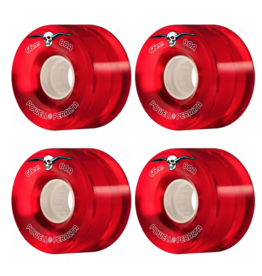 POWELL POWELL PERALTA CLEAR CRUISER WHEELES 66mm 80a RED (SET OF 4)