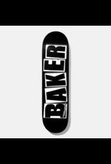 BAKER BAKER BRAND LOGO DECK - 8.12 BLACK/WHITE