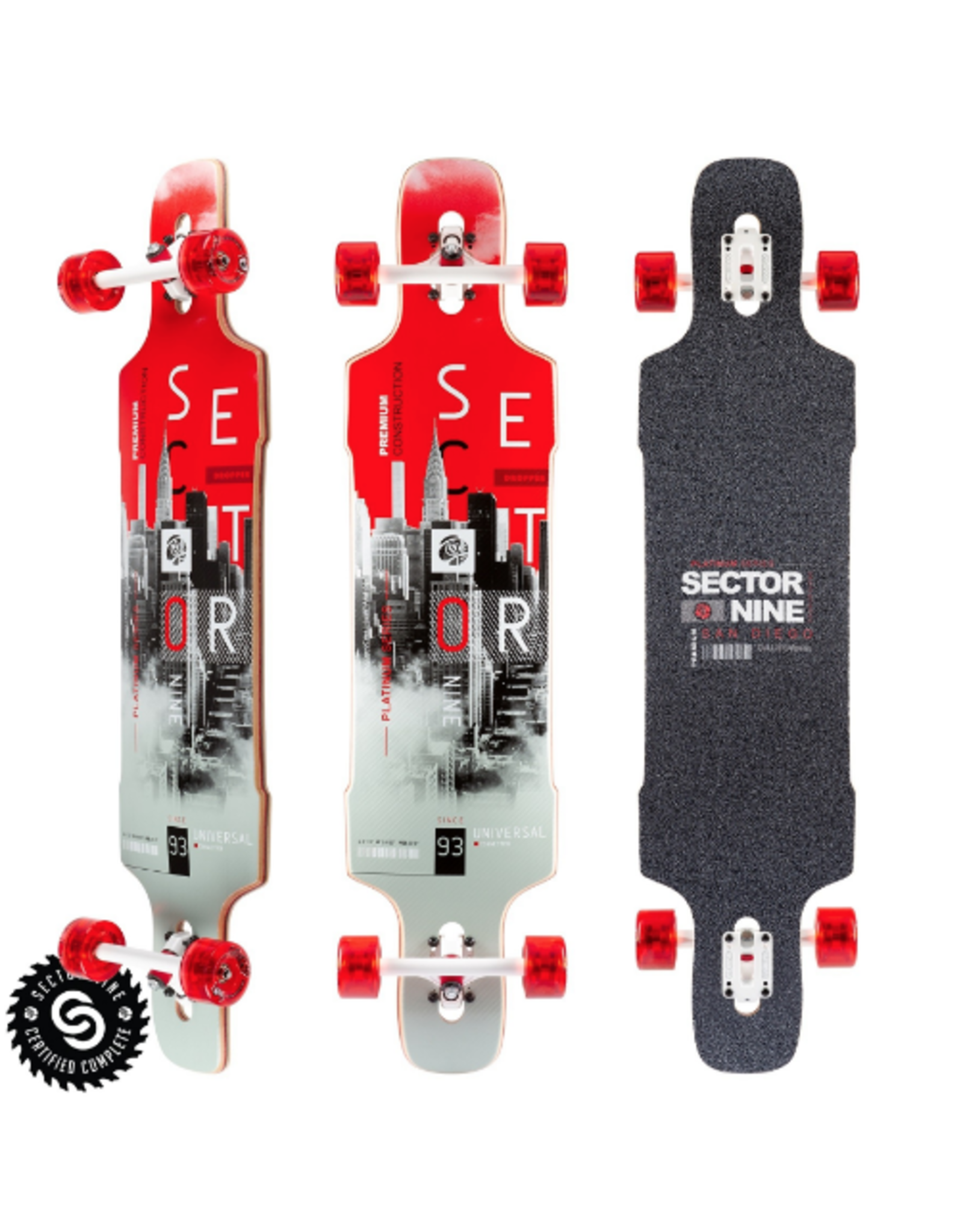"""SECTOR 9 DOWNTOWN DROPPER COMPLETE 41.0"""" X 9.625"""""""