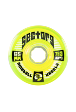SECTOR 9 9-BALLS 65mm78A LIME 4-PK