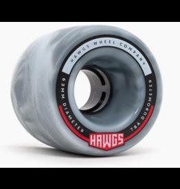 HAWGS FATTIE 63mm 78a GREY/WHT SWIRL