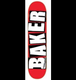 BAKER Baker Brand Logo 8.25 Red/White Skateboard Deck
