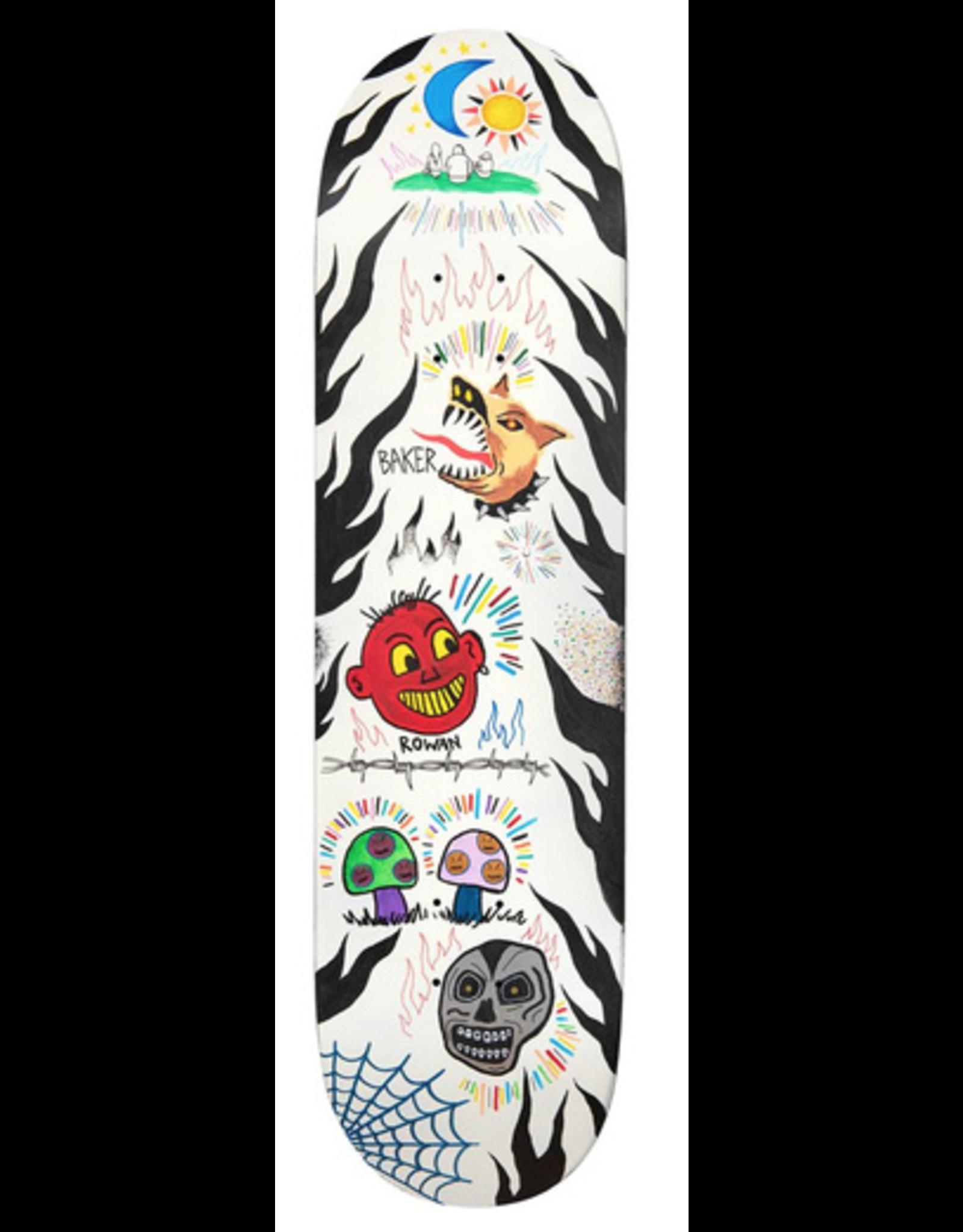 "BAKER Baker Deck Rowan Zorilla Happy Campers 8.5"""