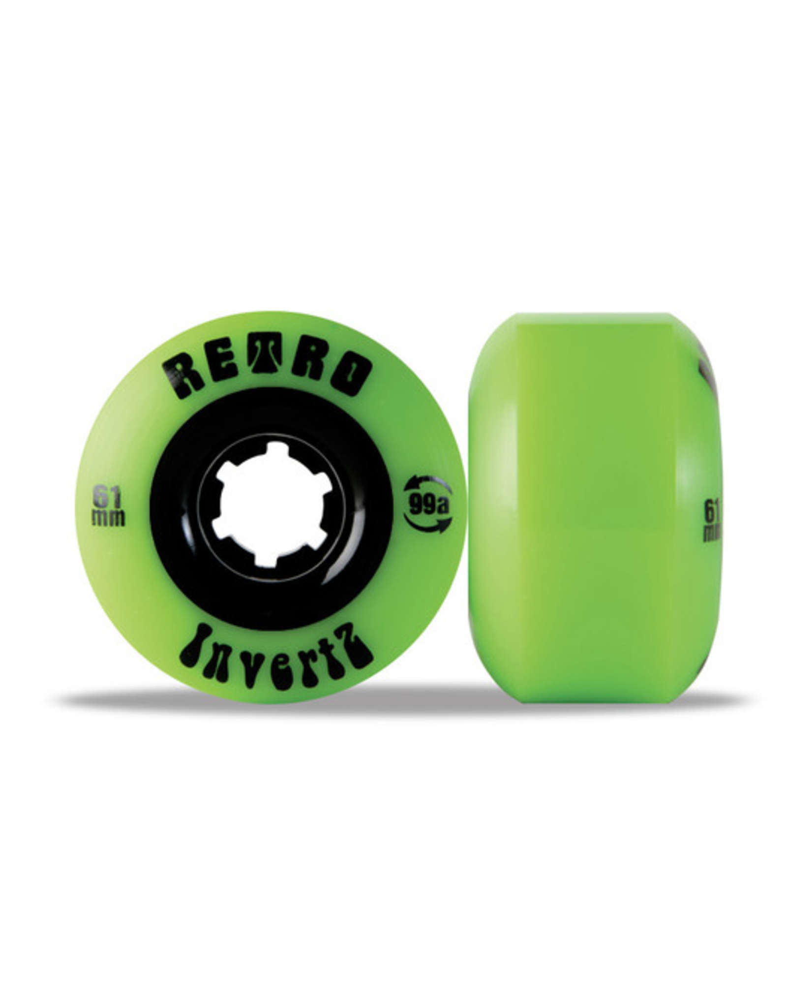 RETRO INVERTZ PARK PLUS 61mm 99a GREEN (Set Of 4)