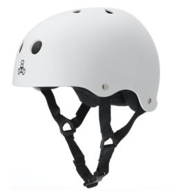 TRIPLE 8 T8 HELMET WHITE RUBBER SM