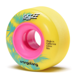 ORANGATANG ORANGATANG 62 MM, 86A SKIFF YELLOW (SET OF 4)