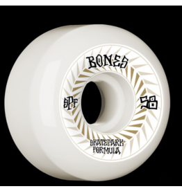 BONES SPINES 58MM 81B BONES SKATEPARK FORMULA P5 SIDECUTE WHEELS (4PK)