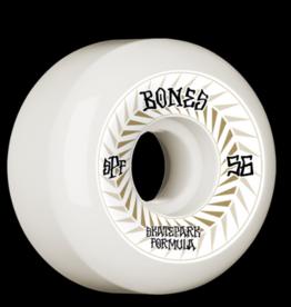 BONES SPINES 56MM 81B BONES SKATEPARK FORMULA P5 SIDECUTE WHEELS (4PK)
