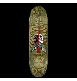 POWELL Powell Peralta Skull and Sword Skateboard Deck Olive - Shape 248 - 8.25 x 31.95