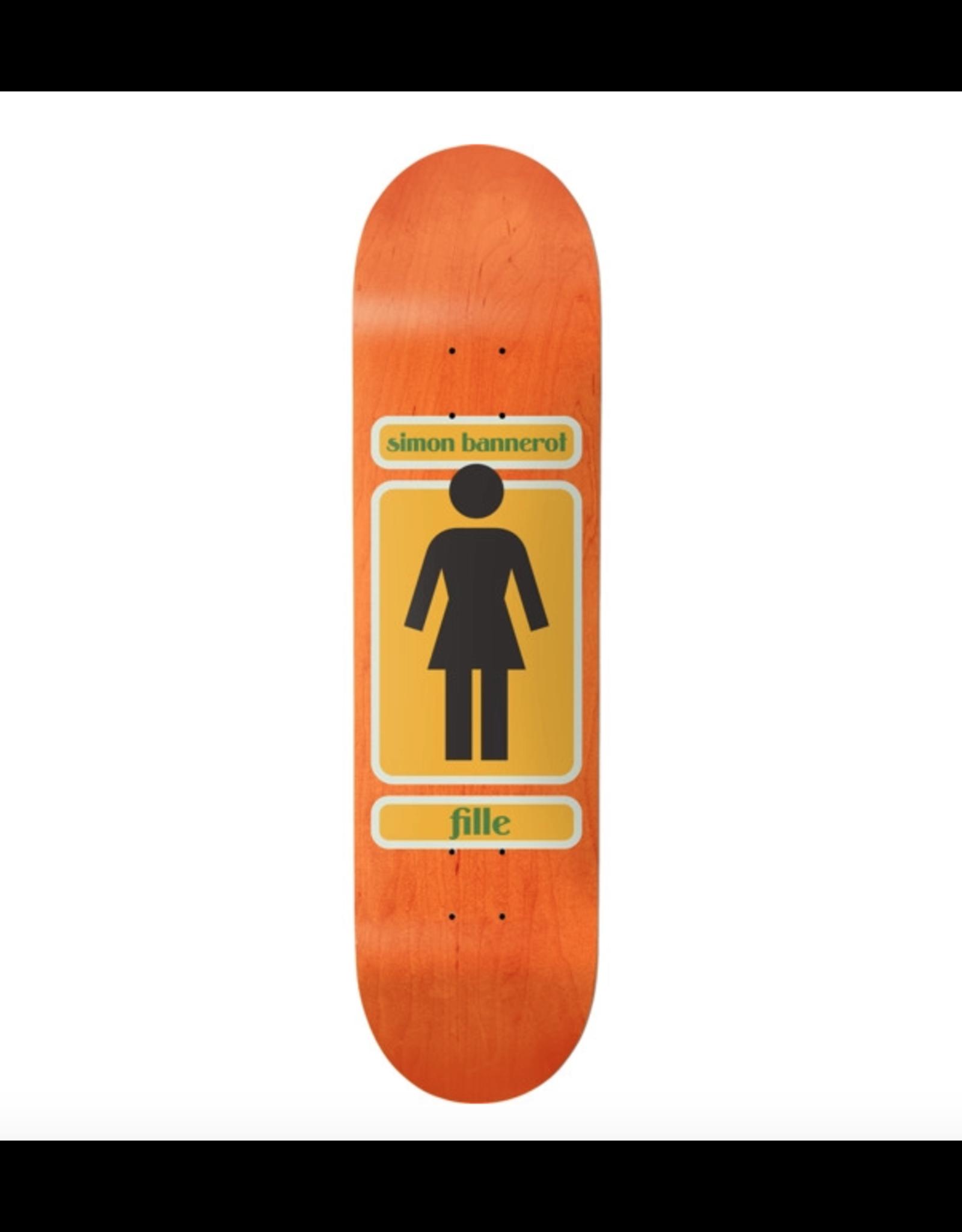Girl Skateboards Simon Bannerot 93 Til Skateboard Deck 8.5 x 32 with Jessup Black Griptape Bundle of 2 Items