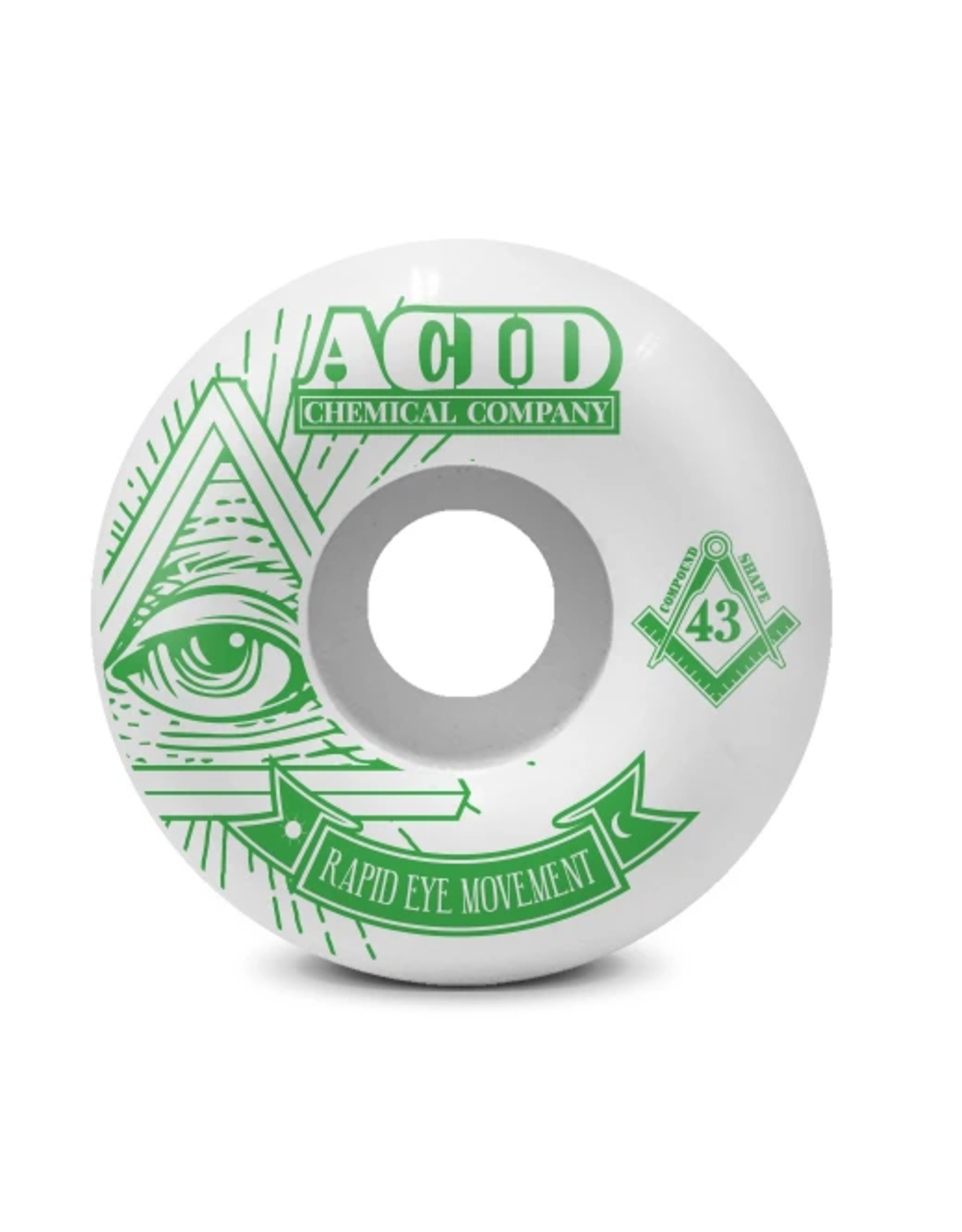 ACID ACID REM PYRAMID WHEELS 58MM 101A WHITE/GREEN