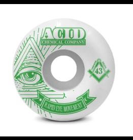 ACID ACID REM PYRAMID WHEELS 58MM 101A WHITE/GREEN